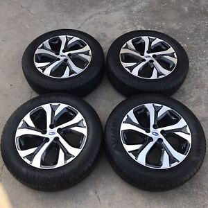 Set 4 18 Inch Rims tires Subaru Outback 2015 2020 Charcoal Machined 68883