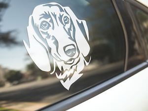 Dachshund Sticker Dog Car Decal Smooth Coat Dachshunds Dogs Puppy Silhouette