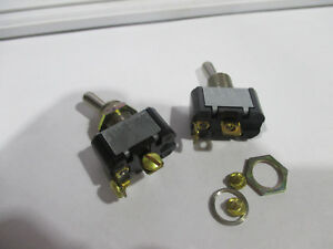 2 Cutler Hammer Eaton Toggle Switch Pt E10t115a5 Spst On off 2 Blade