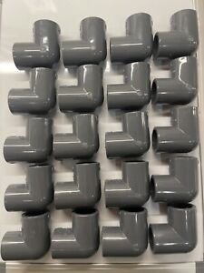 Sisco 3 4 Inch Pvc Sch 80 90 Degree Elbow Lot Of 20 New Made In The Usa