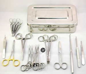 Surgical Veterinary Spay Surgery Kit Ovaries Removal Dentist Vet Lab Instruments