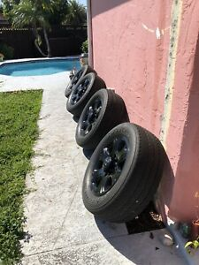 20 Dodge Ram 2500 3500 Black Wheels Rims Tires Oem Oe 2017 2018 2019 2020