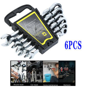 6pc Gear Wrench Reversible Ratcheting Combination Wrench Flexible Tool