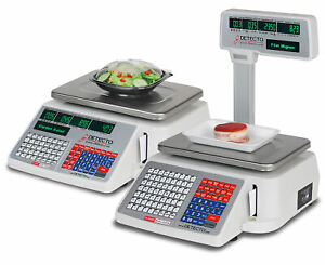 Detecto Dl1030 Deli Scale With Integral Printer 30 Lb X 0 01 Lb Ntep