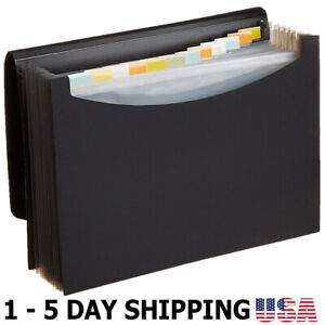 Expanding Organizer File Folder Letter Size Important Papers Or Documents Black