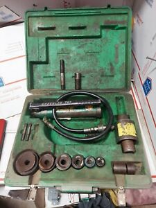 Greenlee Knockout Hydraulic Punch Driver Set With 767 Pump Ed4u