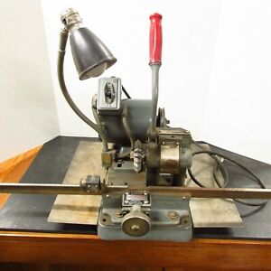 Vintage Lead Type Print Press Rouse Economy Vertical Rotary Miterer Electric