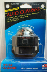 Vintage Auto Compass Guide Tech Commander New In Sealed Package