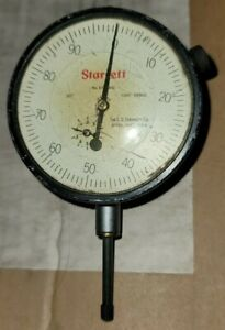 Starrett Vintage Micrometer Dial Indicator No 655 441 As Is 0 001 Usa