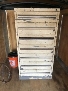 7 Draw Used Stanley Vidmar Cabinet S 59 H X 28 X 30 6 6 1 2 Deep Drawers