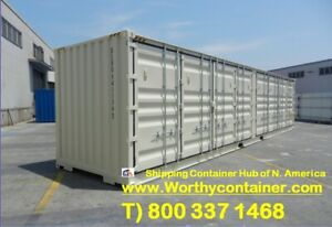 Open Side os 40 Hc New One Trip Shipping Container In Chicago Il