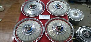 1962 Ford Galaxie 500 Sunliner 14 Wheel Covers Hubcaps Set Of 4