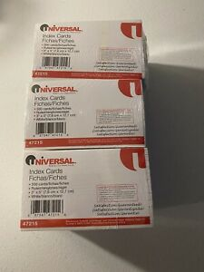 Universal 3 X 5 Ruled Index Cards 47215 Lot Of 3 New 2500 Per Pack