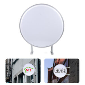 24 60cm Round Led Sign Double Sided Outdoor Advertising Projecting Light Box
