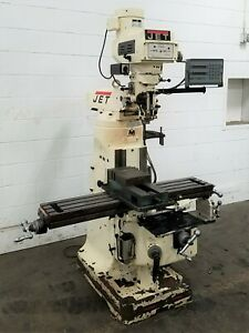 Jtm 4vs Jet 3 hp Vertical Turret Milling Machine With Dro Used Am20441
