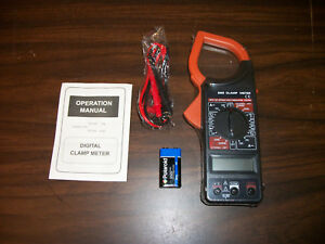 Digital Clamp Meter Volt Ohm Ac Amp Current Insulation Multimeter Tester