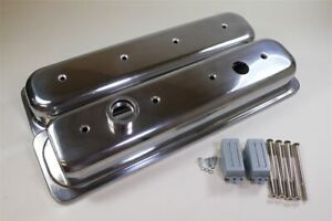 Sbc Impala Camaro Lt1 Valve Covers C Bolts With Clearance Notch Polished