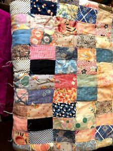 Rare Queen Size Vintage Cotton 1930 S Patchwork Quilt