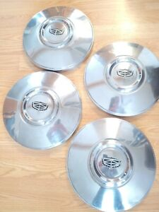Vintage 70s Dog Dish Set Of 4 Hubcaps Ford Mercury Torino Very Nice Chrome