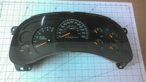 2003 2006 Chevy Gmc Truck 2500 Instrument Cluster Gauges 15287371 Trans Temp