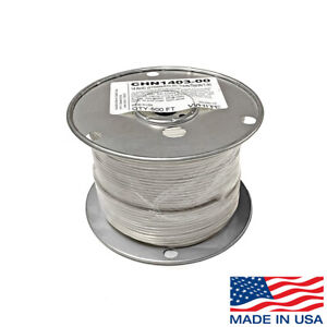 14 Awg Copper Stranded Wire 500 Ft Roll Thhn thwn 600 Volt Usa Made Ul White