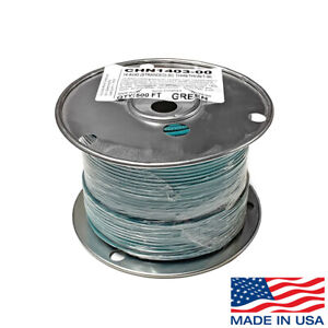 14 Awg Copper Stranded Wire 500 Ft Roll Thhn thwn 600 Volt Usa Made Ul Green