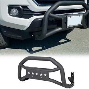 Fits 2005 2020 Toyota Tacoma Textured Black Front Bull Bar Bumper Grille Guard