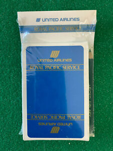 VINTAGE UNITED AIRLINES ROYAL PACIFIC SERVICE Playing Cards Pad Pencil Sealed $9.50