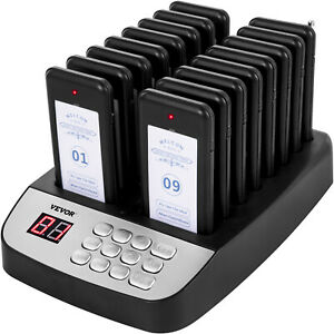 Vevor Restaurant Wireless Guest Paging System 16 Beepers Queuing Calling Pagers