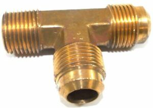 Big A Service Line 3 151908 Brass Pipe Flare Tee Fitting 5 8 X 1 2