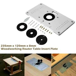 For Woodworking Benches Aluminum Router Insert Plate Rings Screws O5m5