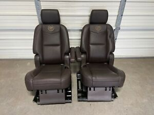 2007 2014 Cadillac Escalade Platinum Tahoe Second 2nd Row Leather Bucket Seats