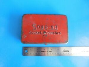 Used Vintage Old Logo Snap On Tools 1 4 In Dr Storage Box