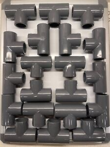 Sisco 3 4 Inch Pvc Sch 80 T Fitting Lot Of 20 New Made In The Usa