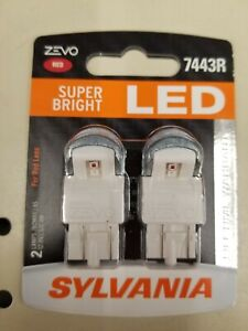 Sylvania Zevo 7443r Bright Red 6000k Led Replacement Bulbs Newsealed