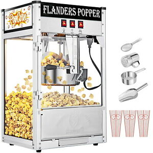 Popcorn Maker Machine 8 Oz Commercial Electric Popping Hot Pop Corn Catering