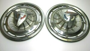 Vintage 62 Chevy Impala Ss Spinners Hubcaps Wheel Covers Super Sport Lot