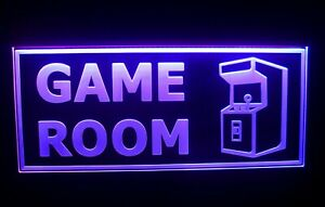 Arcade Led Neon Sign Light Game Room Man Cave Flashing Multi color Large 20 New
