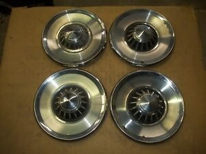 1963 63 Plymouth Fury Hubcap Rim Wheel Cover Hub Cap 14 Oem Used X8 Set 4