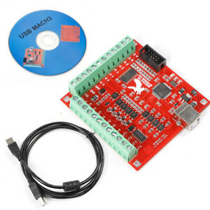 4axis Usb Interface Board Cnc Mach3 Smooth Stepper Motion Controller Driver Card
