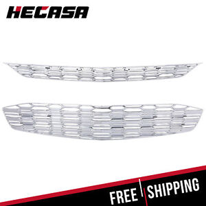 For Chevy Malibu 2016 2018 Chrome Snap On Grille Overlay Grill Covers Trims 17