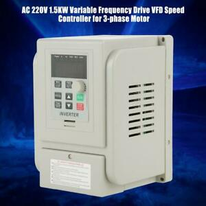 8a Ac220v Vfd Variable Frequency Drive Inverter Speed Controller Converter 1 5kw