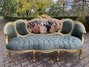 French Louis Xvi Sofa Settee Couch Worldwide Shipping