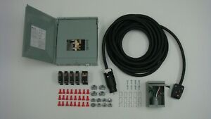 Manual Transfer Switch Kit For Generators 7000 Watts Up 120 240 volt 50 Amp