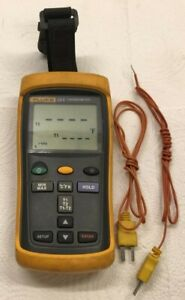 Fluke 52 Ii F52 2 Dual Input Digital Thermometer With Two 80pk 1 Thermocouples