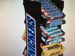 Large Vintage Snickers 4 Tier Candy Display Retail Rack Item 09038 New In Box