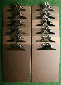 Lot Of 12 Skilcraft Model 5918 Brown Composition 9 X 12 5 Harboard Clipboards