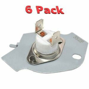 3977394 Thermal Fuse Replacement For Whirlpool Kenmore Dryers 6 Pack