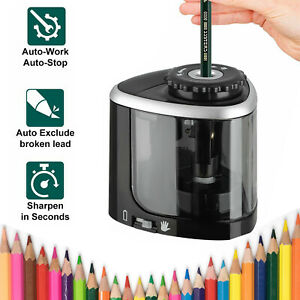 Electric Pencil Sharpener Automatic Touch Switch School Office Classroom Small