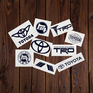 9 sticker Pack Toyota Logo Car Vinyl Decal